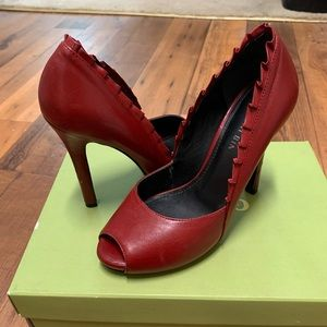 Gianni Bini Shoes - Red Leather Gianni Bini